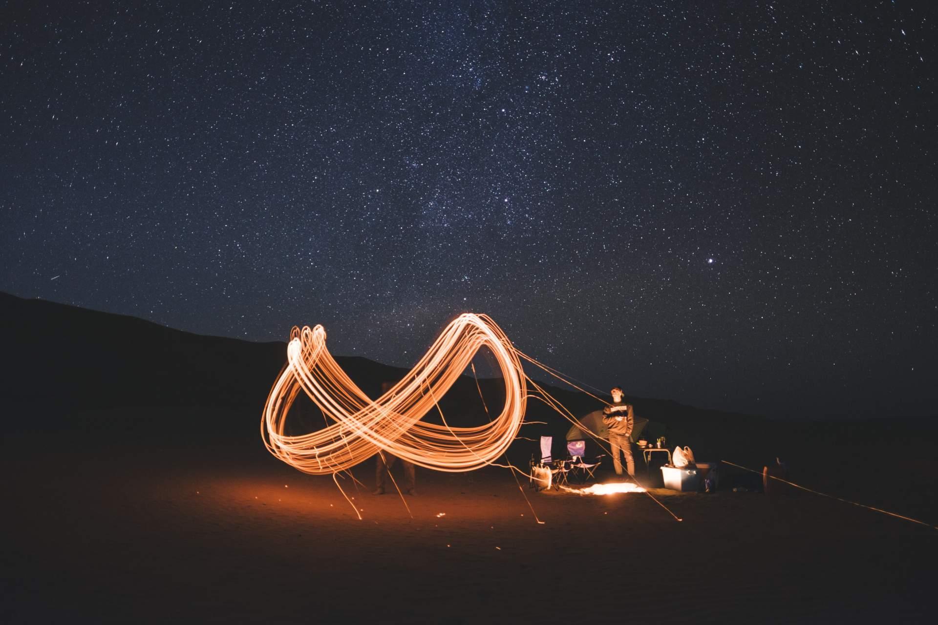 lumière nuit étoile