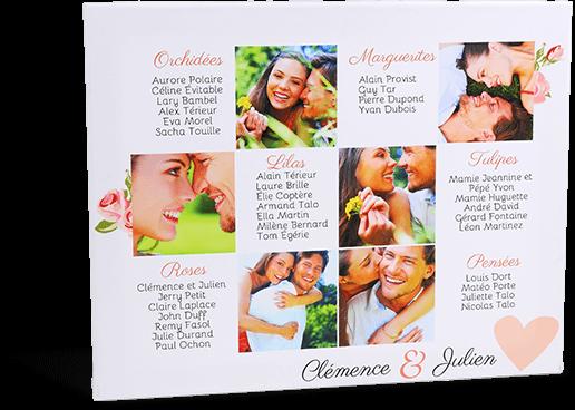 plan de table mariage photo sur toile