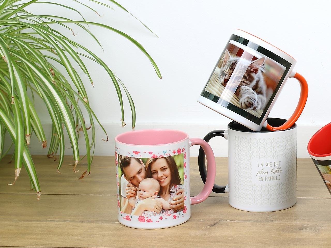 tasse photo personnalis e cr er votre tasse tout en couleurs. Black Bedroom Furniture Sets. Home Design Ideas