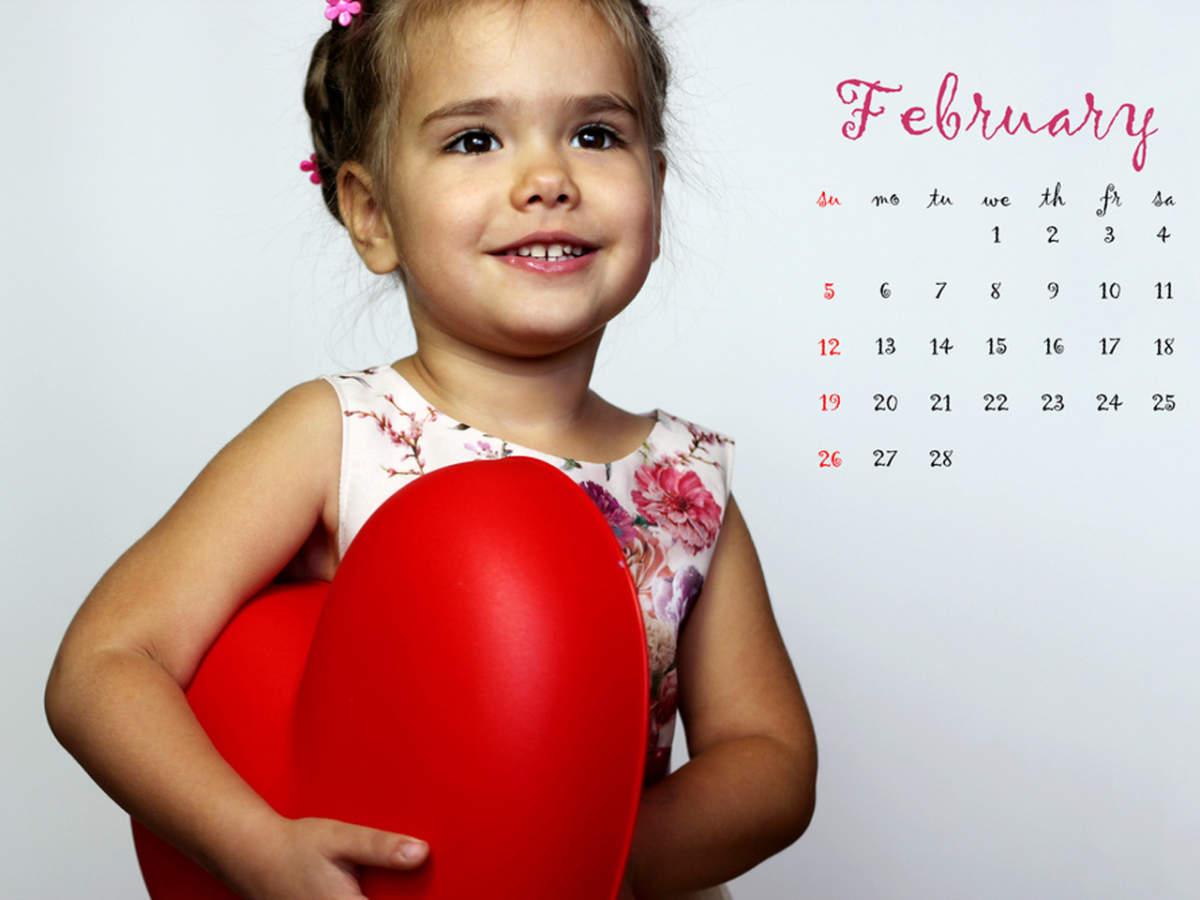 calendrier photo enfant