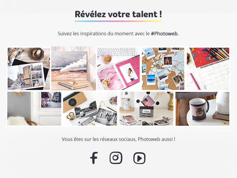 réseaux sociaux photoweb