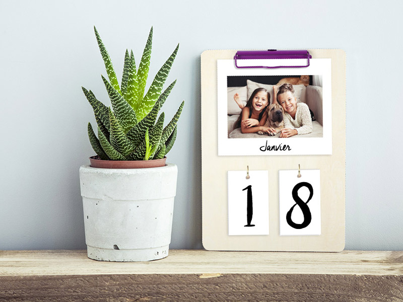 Planche DIY calendrier photo