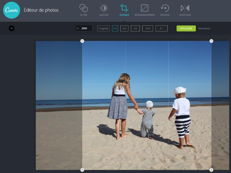 exemple comment recadrer photo avec l u0026 39 outil en ligne et