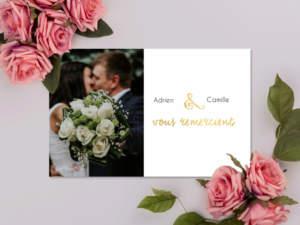 remerciement mariage