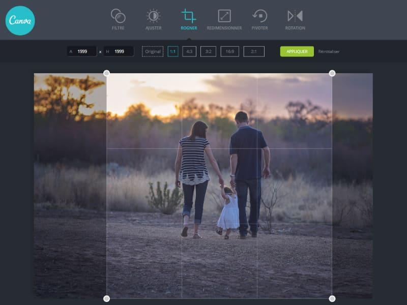 comment rogner une photo en ligne facilement avec l'outil canva