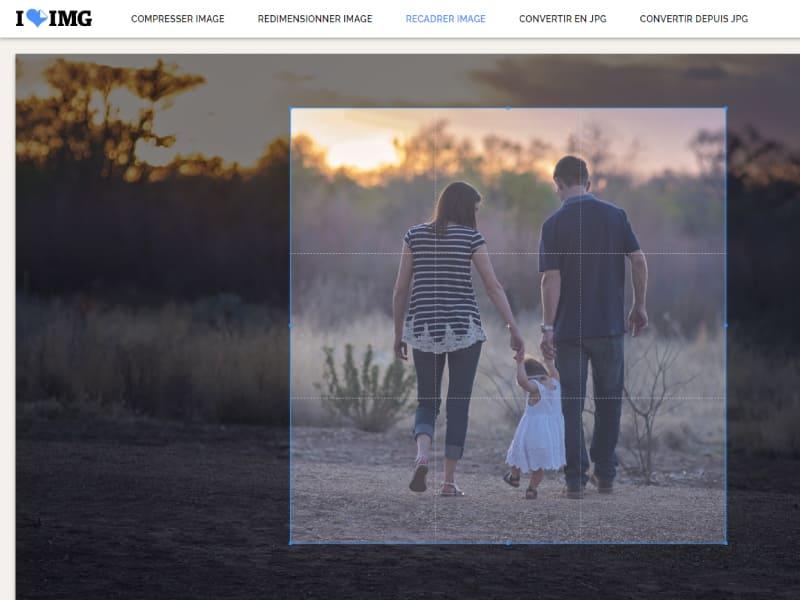 comment rogner une photo en ligne facilement avec l'outil iloveimg