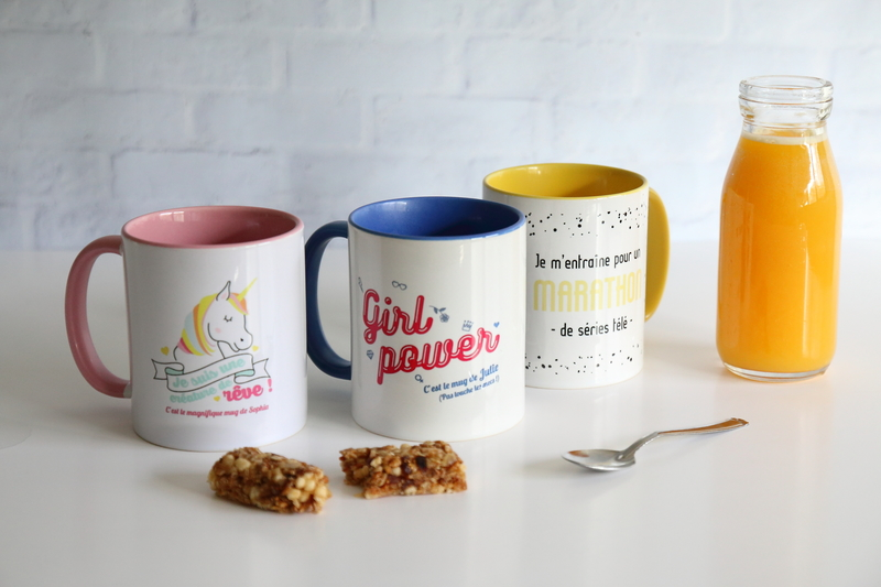 Mug illustration girl power