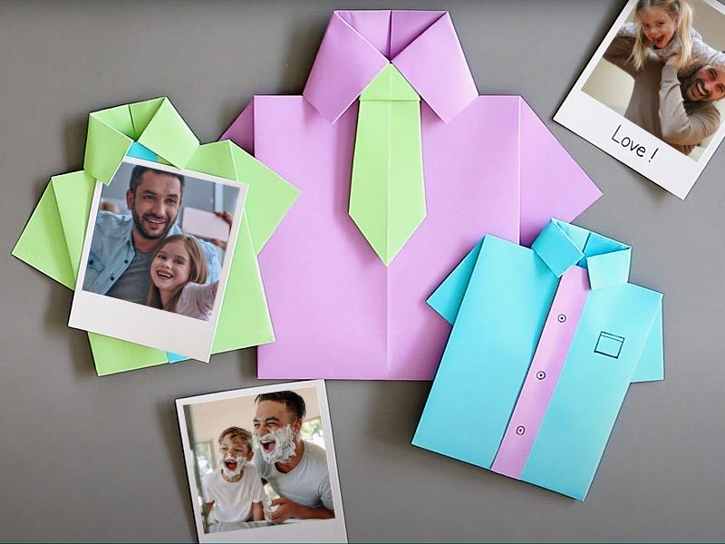 Origami chemise papa