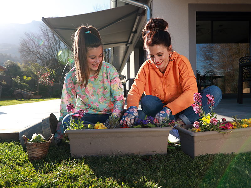 Photo coulisses spot TV jardinage