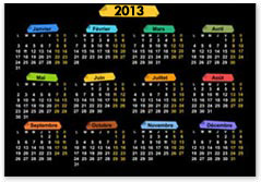 calendrier annuel une page