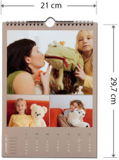 calendrier photo mural argentique 21 x 29,7 cm